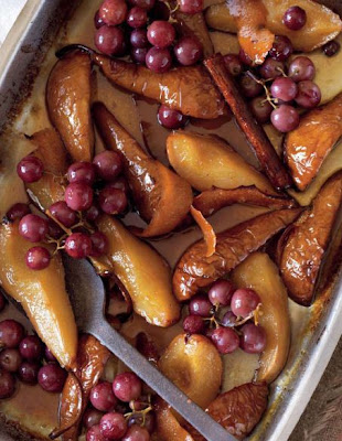 Marsala Roasted Pears and Grapes