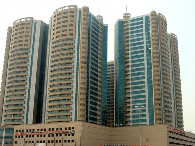 Horizon Tower Ajman, Front view 1bhk flat available for rent 32000/year, Ajman Property Finder