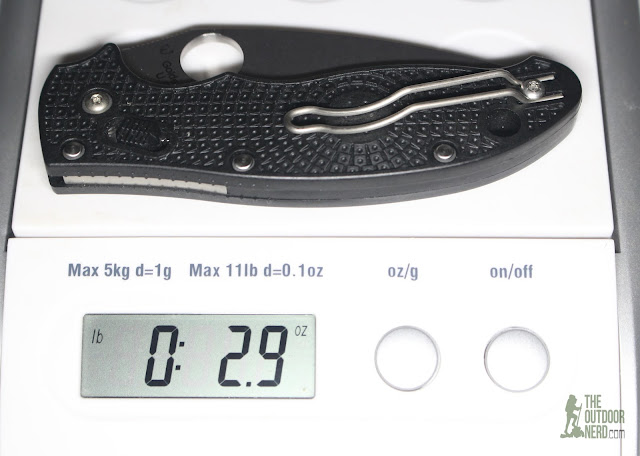 Spyderco Manix 2 Lightweight Pocket Knife - On Scale