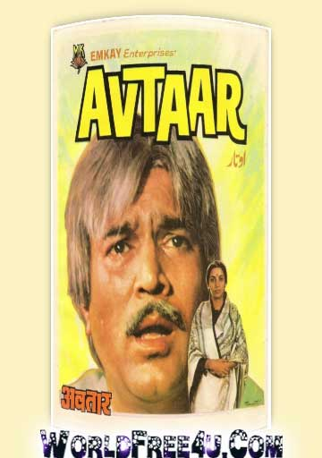 Poster Of Bollywood Movie Avtaar (1983) 300MB Compressed Small Size Pc Movie Free Download worldfree4u.com