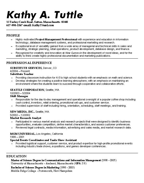 computer science resume objective computer science resume - Medical Resume Objective