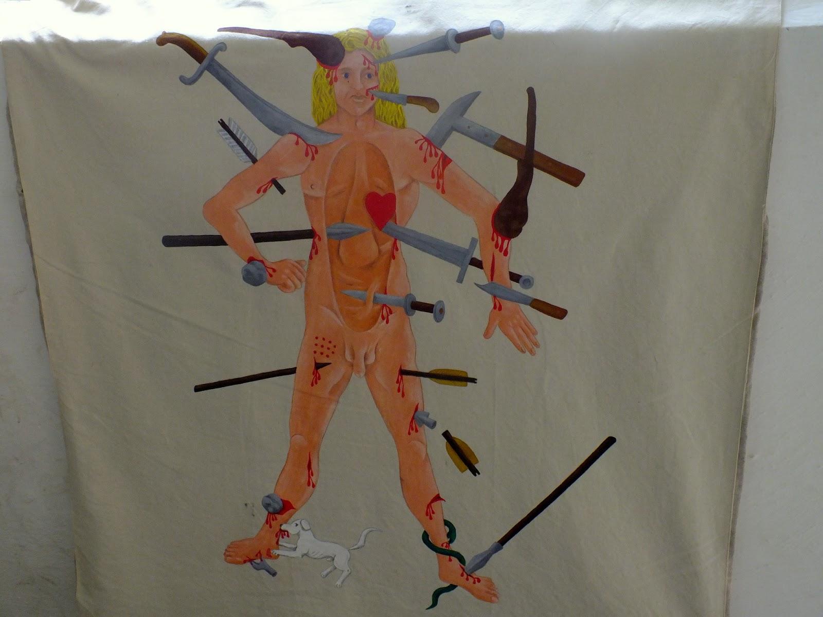 mapa ciała, urazy na polu walki