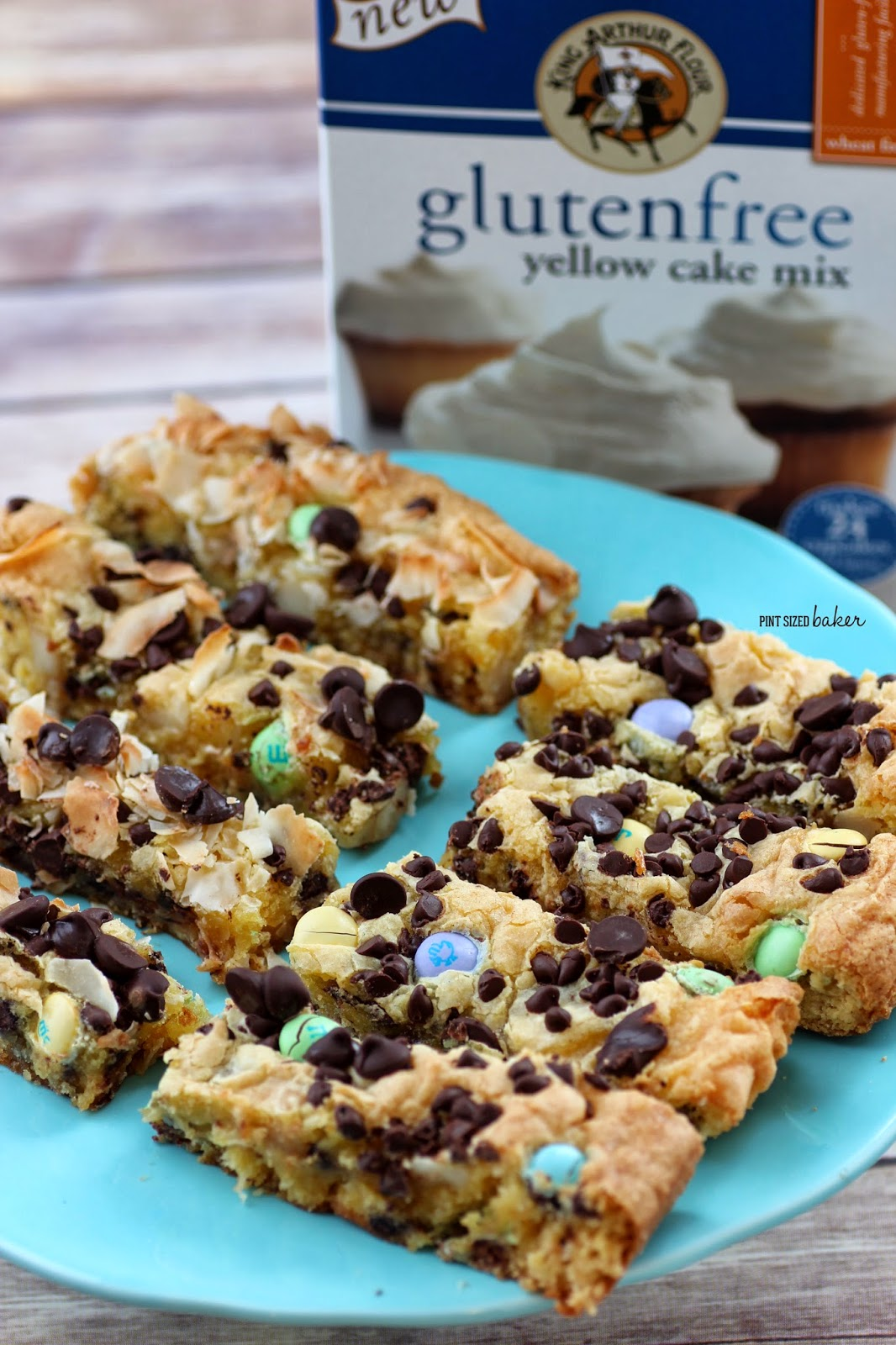 Gluten Free Cake Mix Cookie Bars - Pint Sized Baker