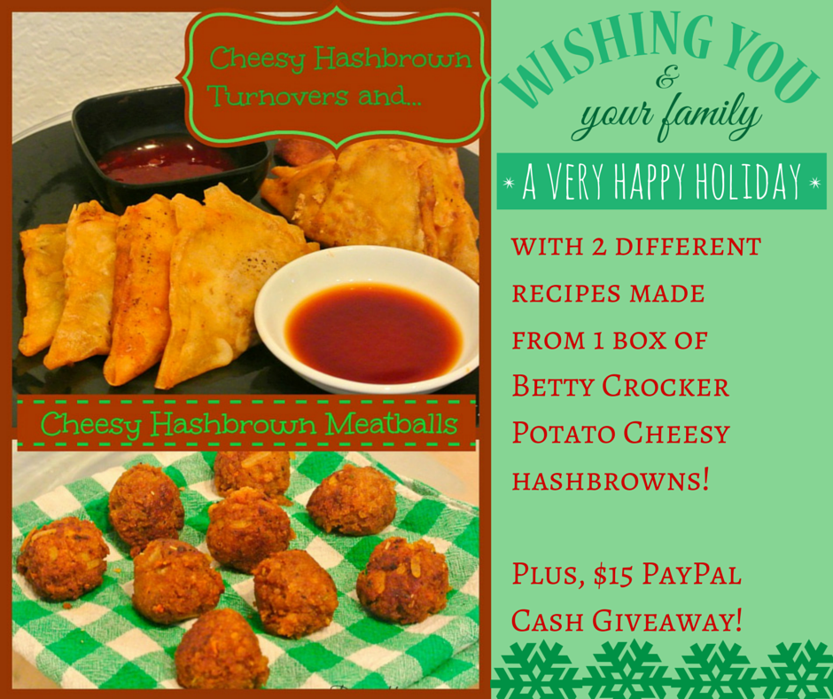 Betty Crocker Potatoes: Cheesy Hashbrown and Meatballs {Plus Giveaway}