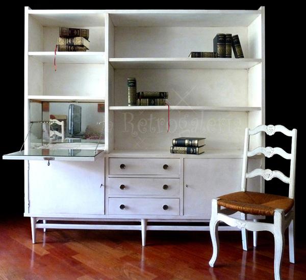 La retrogaleria mueble bar estanter a librer a antigua de for Diseno muebles para bar