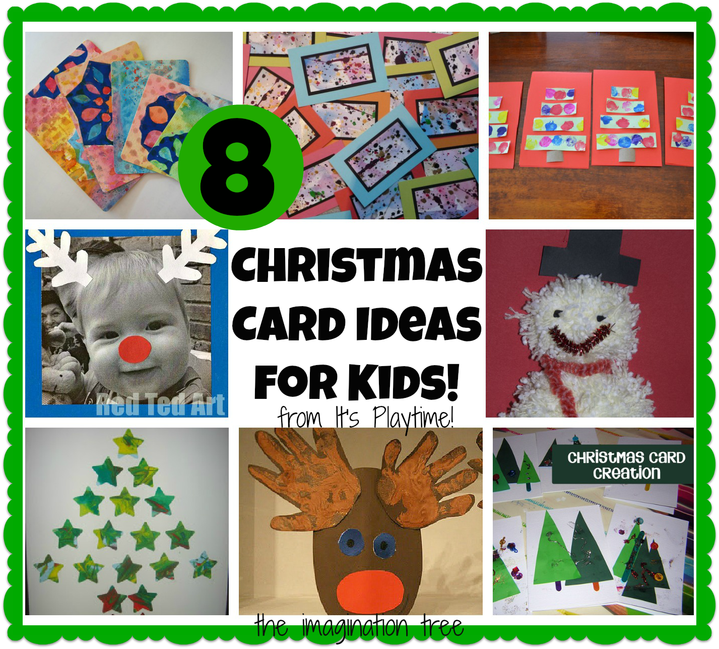 8 Christmas Cards Kids can Make! [It\'s Playtime] - The Imagination Tree
