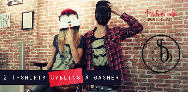 Jeu Sybling et Mademoiselle Bons Plans: 2 T-shirts SKULL à gagner