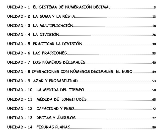 Cuaderno de actividades matematicas para cuarto grado de for Cuarto primaria