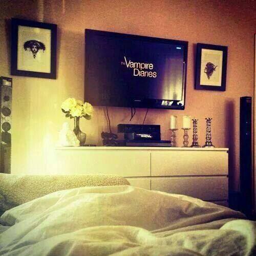 Ver series en la cama
