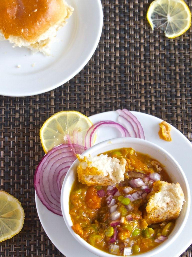 Pav Bhaji - A Mumbai street food.