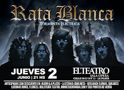 "RATA BLANCA EN EL ""TEATRO SALA ÓPERA"" - 02/06/2016"