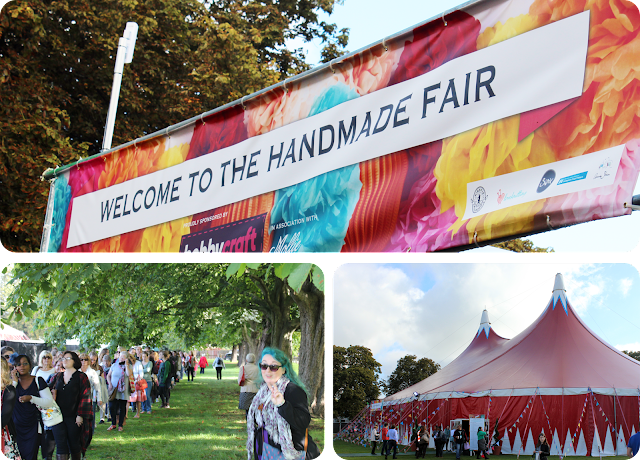 The Handmade Fair welcome sign