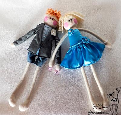 Куклы длинноножки по фото. Паша и Алена