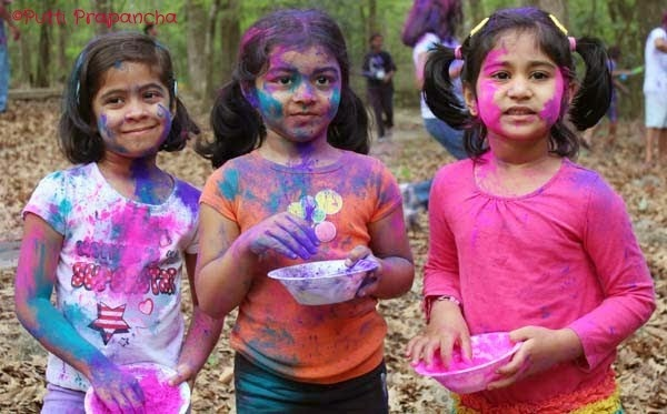 Happy Holi 2015 Cute Little Kids Wallpapers Free Download