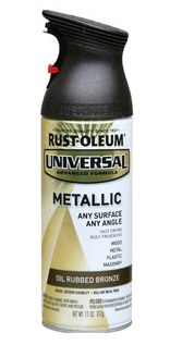 rust oleum universal metallic spray paint oil rubbed bronze paint. Black Bedroom Furniture Sets. Home Design Ideas