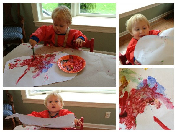 painting with baby
