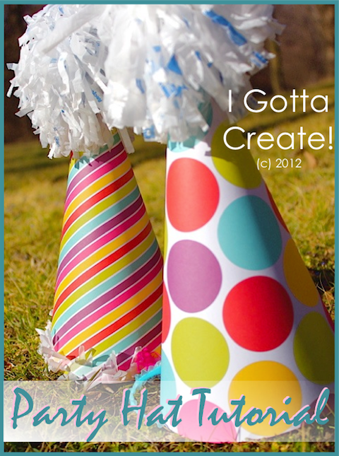 Make your own #party hats in any theme or paper you desire with this great tutorial! | visit I Gotta Create!