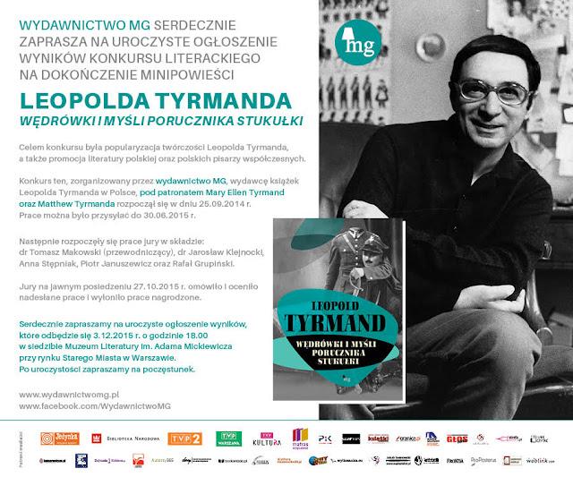 Zaproszenie na uroczyste ogłoszenie wyników konkursu literackiego na dokończenie Wędrówek i myśli...