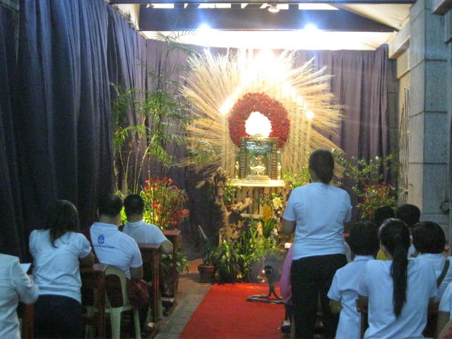 Altar of Repose at the Sacred Heart of Jesus Parish, Sta. Mesa, Manila