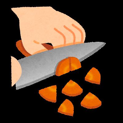 いちょう切りのイラスト(野菜の切り方)