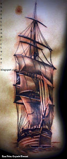 rib-tattoo-ship tattoo-on-rib-cage