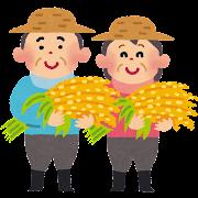 米農家のイラスト(農業)