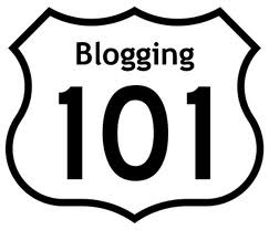 blogging road sign