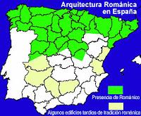 Distribución románico en España
