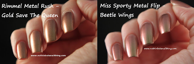 Miss Sporty Metal Flip Beetle Wings Rimmel Metal Rush Gold Save The Queen