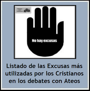 http://ateismoparacristianos.blogspot.com.ar/2015/05/lista-de-las-excusas-cristianas-mas.html