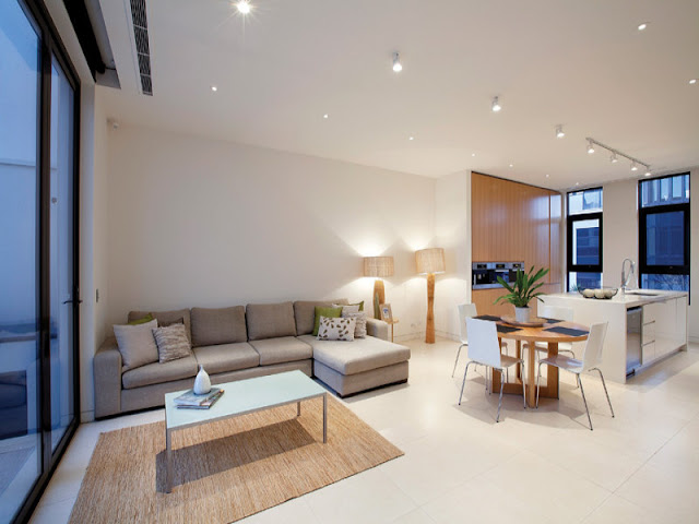 Photo of small living and dining area in the modern home of Melbourne