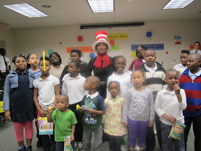 photo of East Ensley's Dr. Seuss celebration
