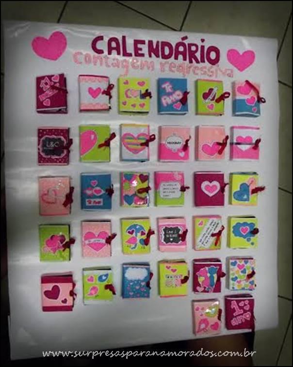 Calendário 30 Dias Para 1 Ano De Namoro Surpresas Para Namorados
