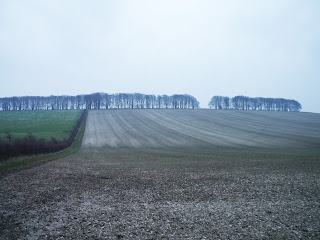 Open countryside near the Uffington White Horse on the Ridgeway National Trail