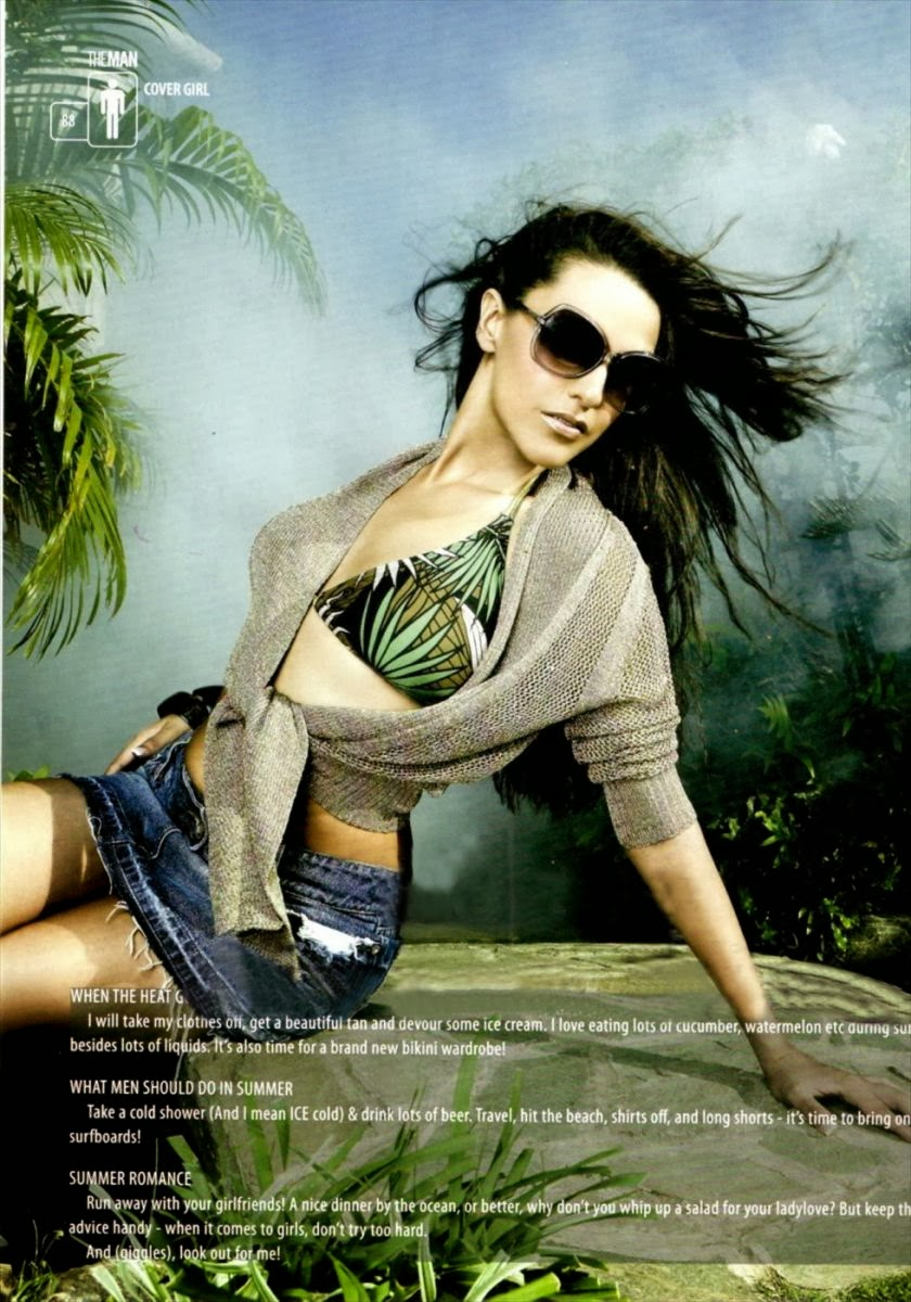 Neha Dhupia in The Man Magazine 1