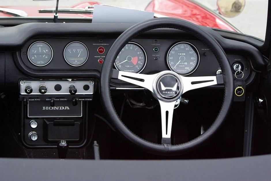 Honda S800, sports, stary japoński samochód, sportowy, klasyk, oldschool, roadster, 日本車, スポーツカー, クラシックカー, ホンダ, wnętrze, interior