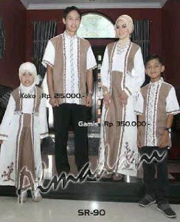 Contoh Baju Muslim Keluarga untuk Lebaran