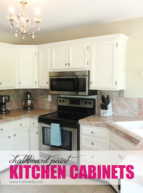 DIY Chalkboard Paint Kitchen Cabinets! Tons of great budget ideas to add character to a kitchen in this post!