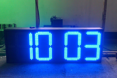 outdoor digital clock, led time temperature display