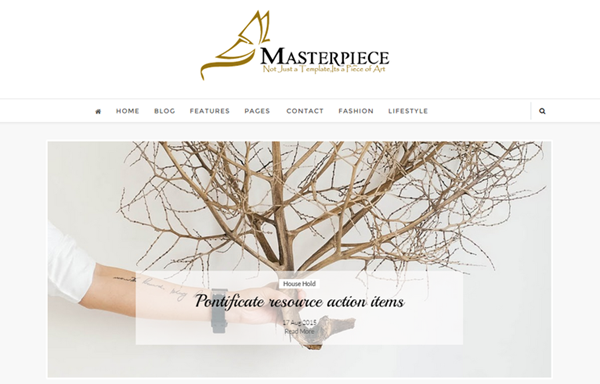 Masterpiece Clean and Responsive Blogger Templates