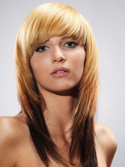 medium long hairstyles with bangs