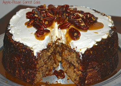 apple-pecan carrot cake