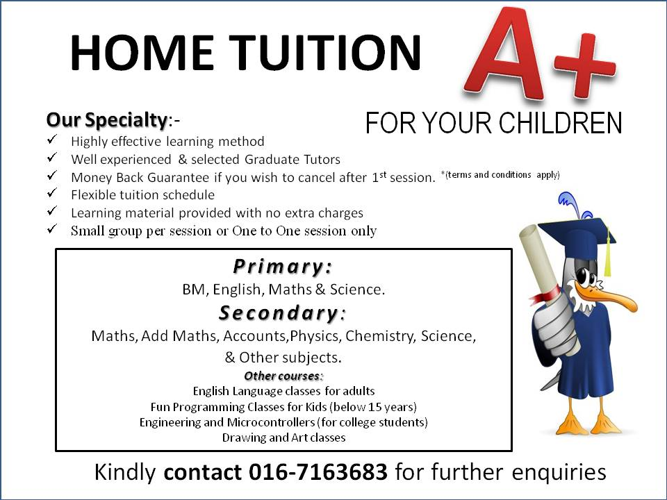 Home Tuition for your Children: Home Tuition