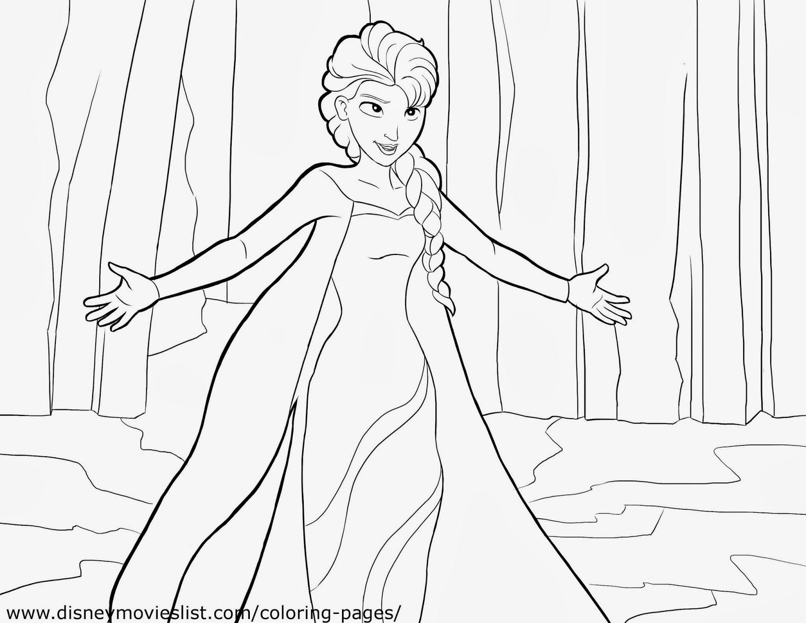 Frozen Imgenes de Elsa para colorear para Imprimir Gratis