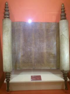torah del siglo XIX en el museo judio de Béjar