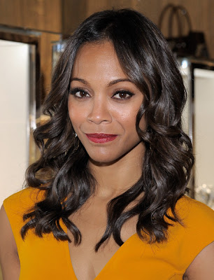 Zoe Saldana Long Curls Hairstyle Photo