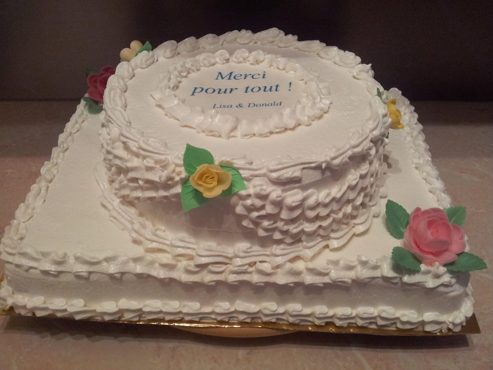 La Pâtisserie de Brunette: Gâteau de remerciements