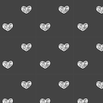 black white heart pattern