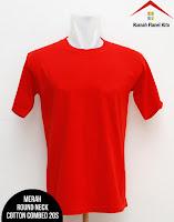 Jual Kaos Polos Merah Cabe
