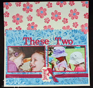 Stampin' Up! Blueberry Crisp Scrapbook Page